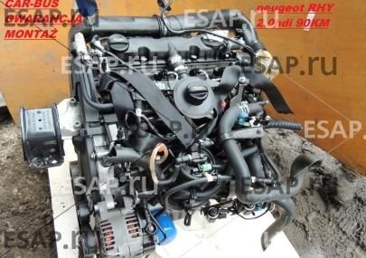 Двигатель PEUGEOT 206 307   2.0 HDI 90KM PSA RHY monta Дизельный