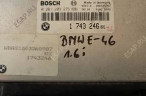 БЛОК УПРАВЛЕНИЯ  -  BMW E - 36 1.6 1743246