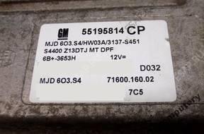 БЛОК УПРАВЛЕНИЯ OPEL CORSA D 55195814cp mjd603.s4 OPIS