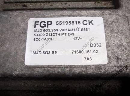 БЛОК УПРАВЛЕНИЯ OPEL CORSA D 55195815ck mjd603.s5 OPIS