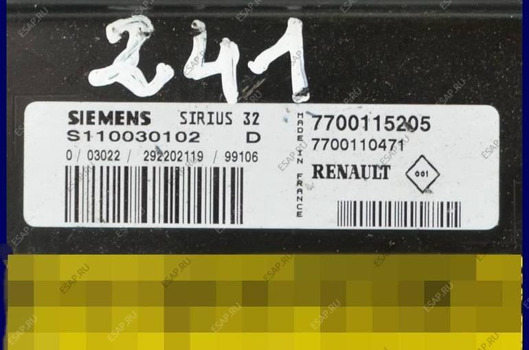 БЛОК УПРАВЛЕНИЯ RENAULT TWINGO 1.2 S110030102D 7700115205