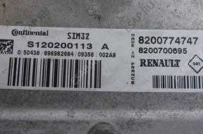 БЛОК УПРАВЛЕНИЯ RENAULT TWINGO S120200113A 8200774747