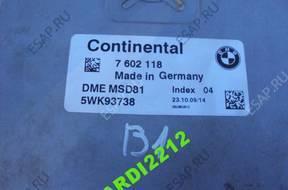 BMW E60 E63 E71 E87 E90 БЛОК УПРАВЛЕНИЯ ДВИГАТЕЛЕМ 7602118