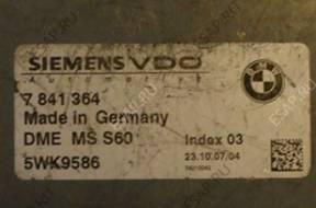 BMW M3  БЛОК УПРАВЛЕНИЯ 7841364 5WK9586
