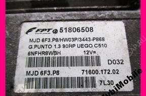 FIAT GRANDE PUNTO 1.3 JTD БЛОК УПРАВЛЕНИЯ 51806508