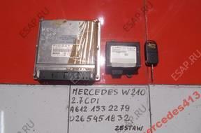MERCEDES E W210 2.7CDI БЛОК УПРАВЛЕНИЯ КОМПЛЕКТ A6121532279
