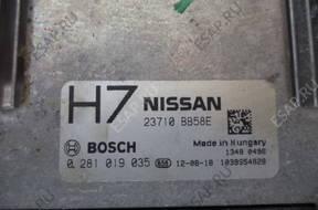 Nissan Qashqai БЛОК УПРАВЛЕНИЯ 0281019035 23710BB58E H7