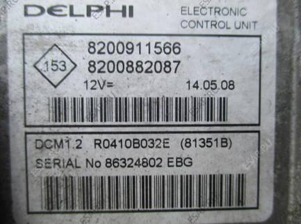 RENAULT TWINGO II 08 1,5 DCI БЛОК УПРАВЛЕНИЯ 8200911966