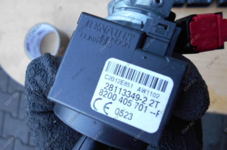 RENAULT TWINGO II 1,2 БЛОК УПРАВЛЕНИЯ 8201076738 КОМПЛЕКТ