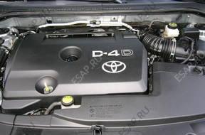 TOYOTA AURIS 2.0 D4D 126KM 06-09 двигатель комплектный