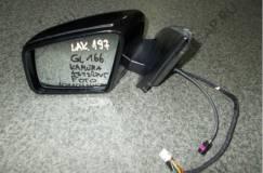 Зеркало боковое левое MERCEDES ML, GL W166  ассистент, камера , цвет 197