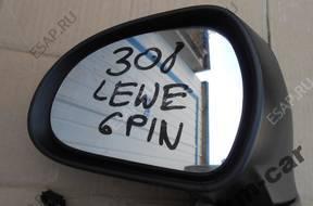 зеркало боковое PEUGEOT 308  ЛЕВОЕ 6 PIN