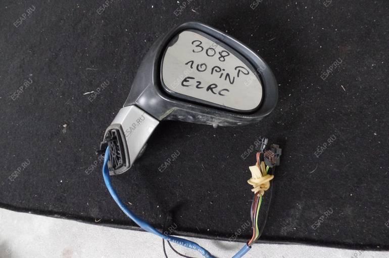 зеркало боковое Peugeot 308  ПРАВОЕ 10 pin  EZRC