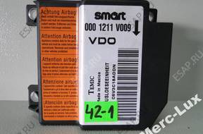 SMART 450 FORTWO МОДУЛЬ СЕНСОР ПОДУШЕК 0001211V009